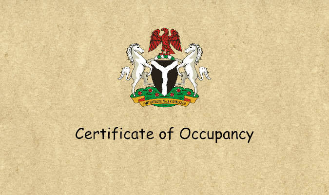 certificate of occupancy, real estate document, real estate investment